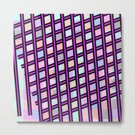 Purple Crayon Metal Print
