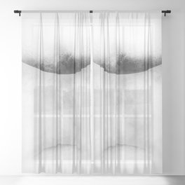 Touching Planets Sheer Curtain