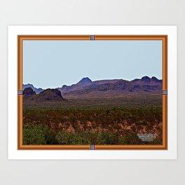 Comanche Prairie Far West Texas Art Print