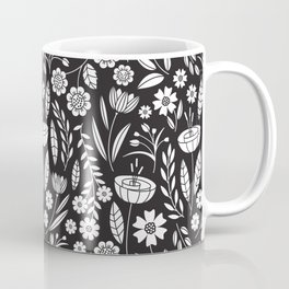 Blooming Field - black Coffee Mug