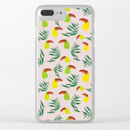 Tropical bird Clear iPhone Case