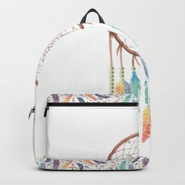 Gypsy Dreams Dreamcatcher on white with Gypsy Dreams Trim Backpack