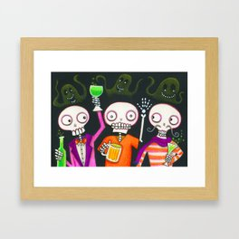 Halloween Happy Hour Framed Art Print