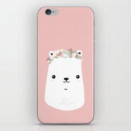 Flower bear iPhone Skin