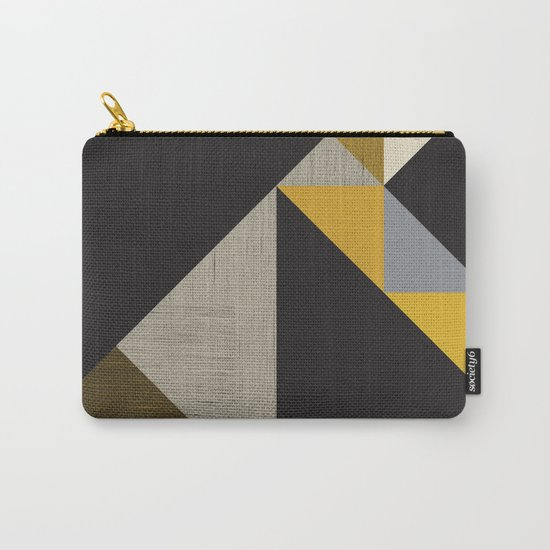 Geometric organic Carry-All Pouch