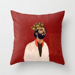 Mo Salah the Egyptian king Throw Pillow