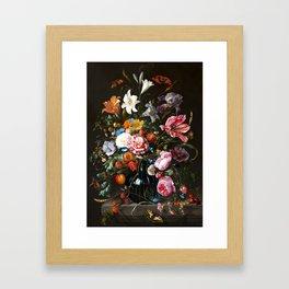 """Jan Davidsz. de Heem """"Still life with Flowers"""" Framed Art Print"""