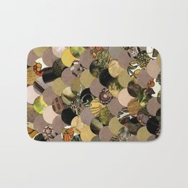 Autumn Scalloped Pattern Bath Mat