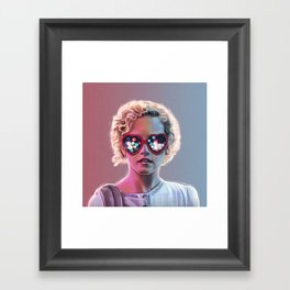 Electrick Girl Framed Art Print