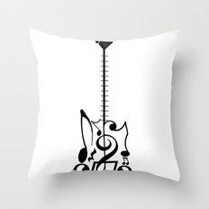 Guitar of Notes Throw Pillow