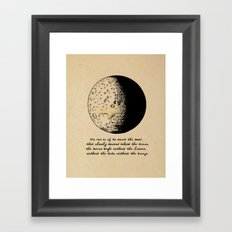 Robert Frost - Meet the Moon Framed Art Print