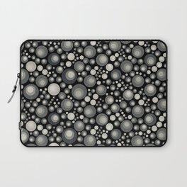 GOTH - grey bubbles on black Laptop Sleeve