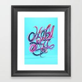 Holy S***T - Typography Framed Art Print