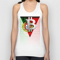 portugal Tank Tops featuring bitcoin Portugal by seb mcnulty