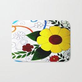 Patterns of flowers. Bath Mat