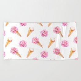 Floral Cones Beach Towel