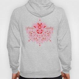 Lotus Blossom Mandala – Red & Pink Palette Hoody