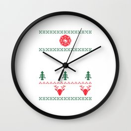 Ugly Christmas product Design For A Firefighter print Wall Clock