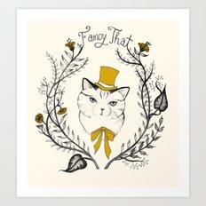 Fancy That, Top Hat Cat Art Print