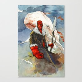 Somebody has to kill that whale Canvas Print