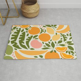 Modern Fruits / Retro Abstraction Rug
