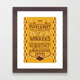 Hard Workers Framed Art Print