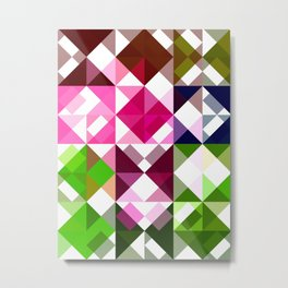 Rosas Moradas 1 Abstract Triangles 1 Metal Print
