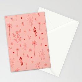 Wild botanical pattern Pink Edition Stationery Cards