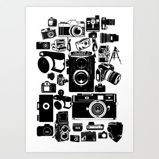 Cameras Art Print