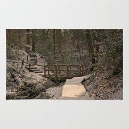 Snowy Ironbridge Gorge Rug