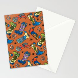 Cowboy-Cowgirl Boots Stationery Cards