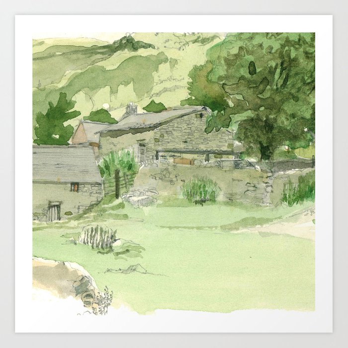 PEAK DISTRICT Art Print