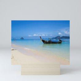 Thailand longboat Mini Art Print