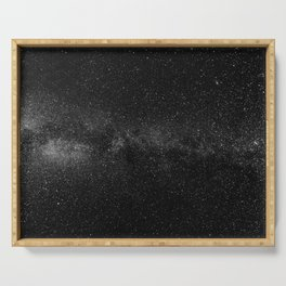 The Starry Sky (Black and White) Serving Tray