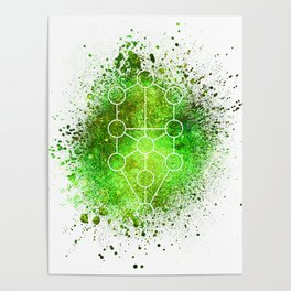 Tree Of Life Gaia Sacred Gemoetry Poster