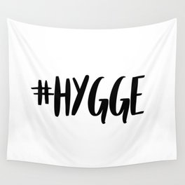 #hygge - scandi quote trend hashtag Wall Tapestry