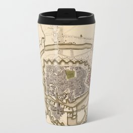 Map of Copenhagen 1837 Travel Mug