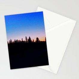 Mounain top sunset Stationery Cards