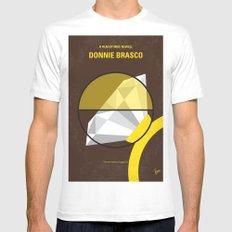 No766 My Donnie Brasco minimal movie poster White MEDIUM Mens Fitted Tee