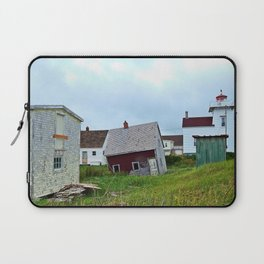 Lighthouse and shacks in North-Rustico PEI Laptop Sleeve