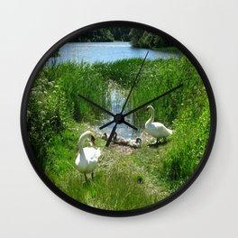 Bosherston Lily Ponds.Pembrokeshire.Wales. Wall Clock