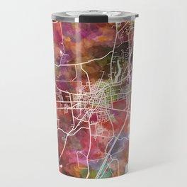 Saratoga Springs map Travel Mug