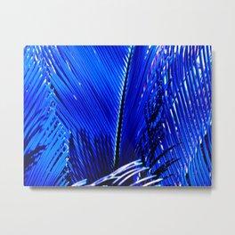 Sapphire Palm Metal Print