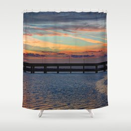 Sunset Over the Hubbard Shower Curtain