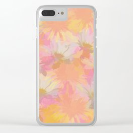 Painted Spring Flowers Clear iPhone Case
