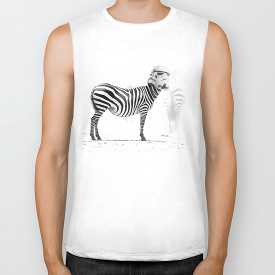 Trooper Stripes  _ Star Wars _ Zebra Biker Tank