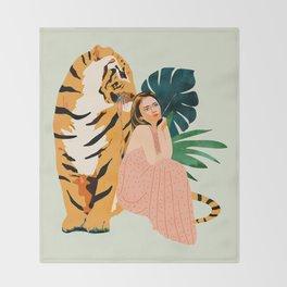 Tiger Spirit Throw Blanket