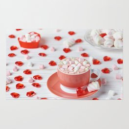 Hot chocolate with marshmallows Rug