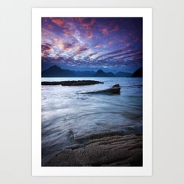 Sunset Over the Cuillin Art Print