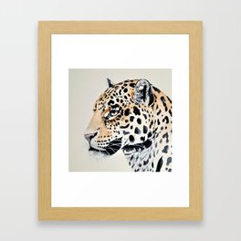 LEOPARD IN WATERCOLOR Framed Art Print